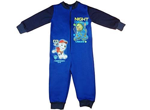 Junge Langarm Kinder Schlafoverall Wanzi Schlafanzug Einteiler Baumwolle 92 98 104 110 116 122 128 134 Paw Petrol, Marshall Tracker Farbe Modell 1, Größe 116
