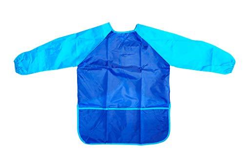 TSI 49283-B Malschürze für Kinder, Polyester, Blau/Hellblau, 60 x 44 cm
