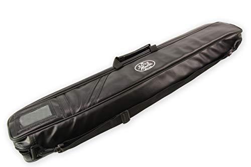 Funky Chalk Premium Soft Black Dual Pool Cue Case For 2 Cues 2 Butts & 2 Shafts, Custodia Morbida Biliardo, Per 2 Stecche, 2 Mozzi E 2 Alberi Unisex-Adulto