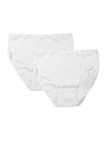 Schiesser for Women - Original Feinripp - Hüftslip - 2er Pack, Größe 44, Farbe Weiß