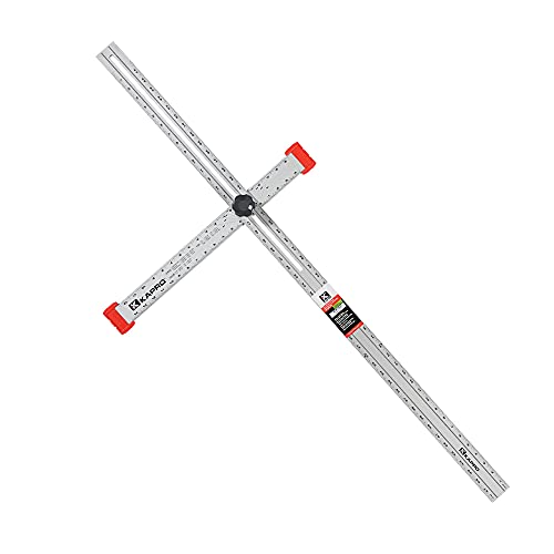 Kapro 317-48-A Aluminum Adjustable Drywall Layout and Marking T-Square, 48-Inch Length
