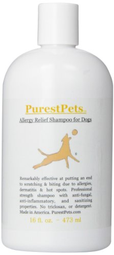 PurestPets Allergy Relief Medicated Dog Shampoo, 16-Ounce