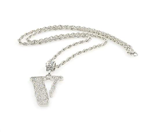 Minshao - Collar de abalorios para mujer, diseño de marea, estilo hip hop, para hombre