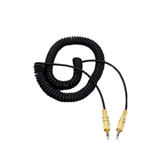 Wondiwe Audio Line, 3.5mm Replacement Audio AUX Cable Coiled Cord for Marshall Woburn Kilburn II Speaker Male to Male Jack