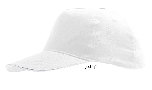 Sol'S Sunny - Casquette Mixte légère - Visière préformée - Fermeture Bande aggripante - Blanc