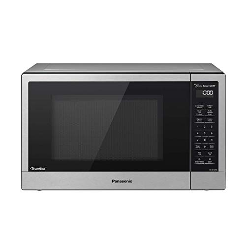 Panasonic Compact Microwave Oven with 1200 Watts of Cooking Power, Sensor Cooking, Popcorn Button, Quick 30sec and Turbo Defrost - NN-SN67KS - 1.2 Cubic Foot (Stainless Steel / Silver) (Renewed)