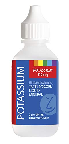 Taste N' Score Liquid Ionic Potassium Mineral Supplement; 100% Pure; 110 mg; 72 Servings
