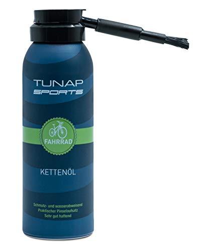 TUNAP SPORTS Kettenöl Spray und Dosier-Pinsel, 125 ml   Fahrrad Langzeit-Schmierung für Ritzel, Schaltwerk und Kette (125ml 2017)