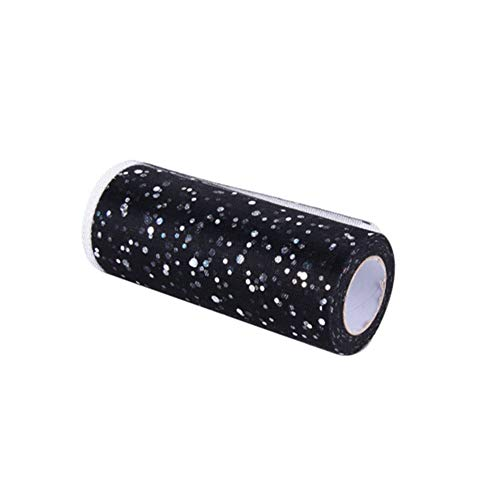 ETbotu 15CMx25Yard Glitter Pailletten Tulle Roll voor Bruiloft Verjaardag Feestjurk Decoratie
