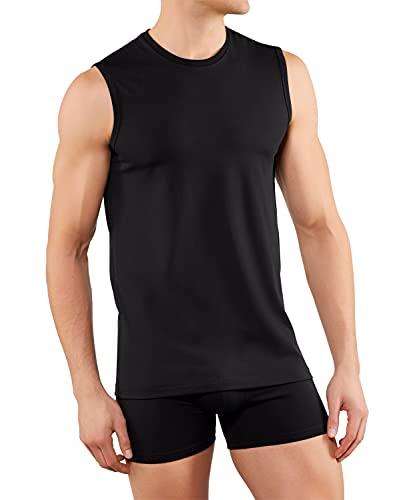 FALKE Herren Daily Comfort Muscle-Shirt 2-Pack M UW Unterwäsche, Schwarz (Black 3000), XXL (2er Pack)