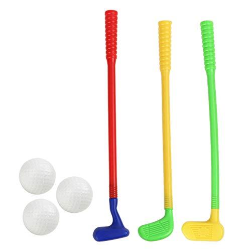 Toyvian Juego de palos de golf de plástico para niños, minigolf, juego de palos de golf para niños para desarrollar la capacidad de desarrollo