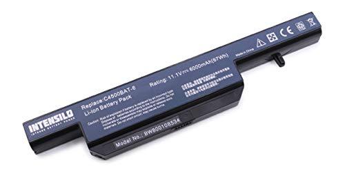 INTENSILO Li-Ion Akku 6000mAh (10.8V) für Notebook Laptop Wortmann Terra Mobile 1547, 1547p wie C4500BAT-6, 6-87-C480S-4G4 u.a.