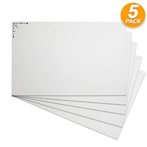 Emraw Postertafel, stabil, weiß, blanko, für Scrapbooking, blanko, für Kunst- und Bastelprojekte,...