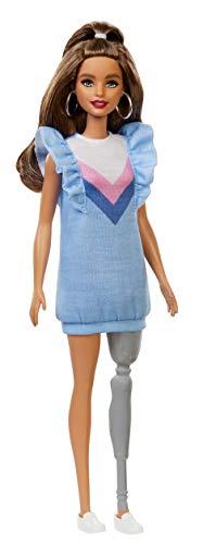 Barbie Fashionista Muñeca morena con pierna protésica (Mattel FXL54)