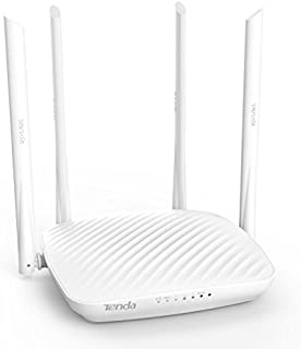 Tenda 600Mbps WiFi Router with 4X 6dBi High-gain Omnidirectional Antennas/Beamforming+/Easy Setup/App Control Whole-Home Coverage (F9)