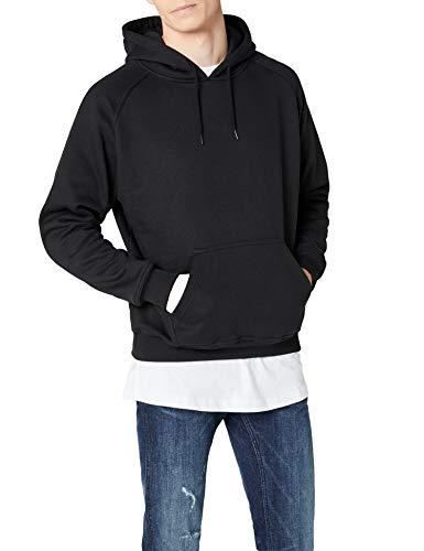 Urban Classics Herren Blank Hoody Kapuzenpullover, black, M