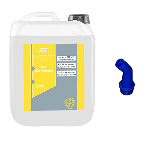 Cleanerist AP18 - Impregnación para piedra (repelente al agua y a la suciedad, hasta 200 m², calidad profesional, transparente e invisible, 5 L)