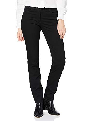 GERRY WEBER Edition 769 - Jeans - Droit - Femme, Noir (Black Black Denim 12800), 38 / L32 (Taille fabricant: 38R)