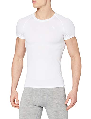 Odlo Herren BL TOP Crew neck s/s ACTIVE F-DRY LIGHT Unterhemd, white, XL