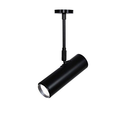 Downlights Lange Stange LED Scheinwerfer TV Hintergrund Decke Bekleidungsgeschäft Bibliothek Orbital Strahler Spotleuchten & Leuchtensysteme (Color : Black, Size : 60 cm)