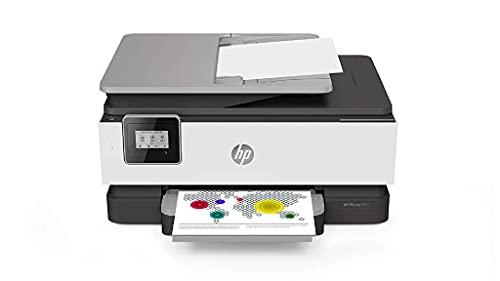 HP OfficeJet 8012 (1KR71B), Stampante Multifunzione a Getto di Inchiostro, Stampa, Scansiona, ADF, Wi-Fi, Smart Tasks, A4, HP Smart, 6 Mesi di Servizio Instant Ink Inclusi nel prezzo, Grigio