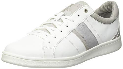 Geox Mens U WARRENS A Sneaker, White,43 EU