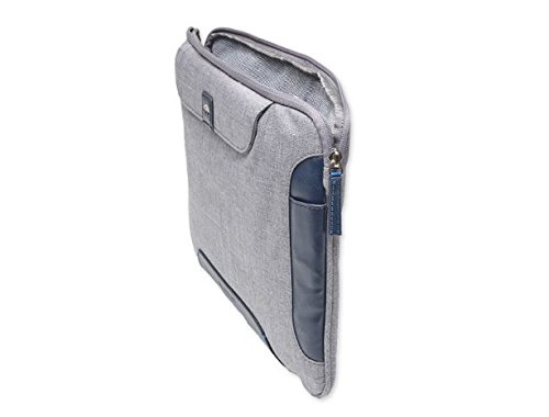 Brenthaven Collins Sleeve Plus with Dedicated Pockets Designed for Microsoft Surface Pro 4 for Commercial, Business and Office Essentials – Cloud, Durable,Rugged Protection from Impact and Compression
