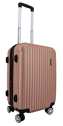 Spacewalker Jet Spinner Cabine 4 roulettes Extensible 55/28 Bagage Cabine, 55 cm, 38.0 litres, Champagne