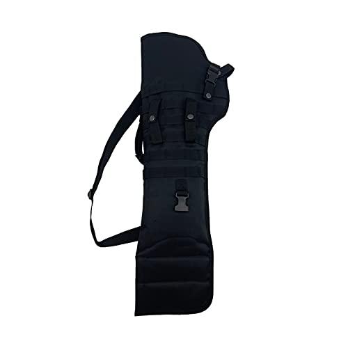 Silfrae Tactical Shotgun Rifle Scabbard Bag Shoulder Bag (Black)