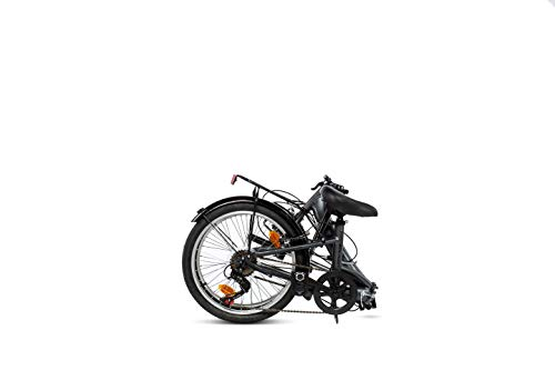 MOMA BIKES Erwachsene BIFCL2GUN Falträder First Class 20″, Aluminium, Shimano 6v, Sattelkomfort, grau, Unic Size - 3