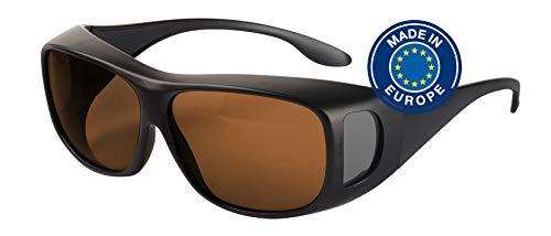 Blaulichtfilter – Überbrille – Fit-Over-Brille, Blue Blocker mit Kantenfilter 511 und 60% Grautönung, UV-Schutz, Blendschutz, kontraststeigernde Unisex-Lichtschutzbrille IV PROSHIELD