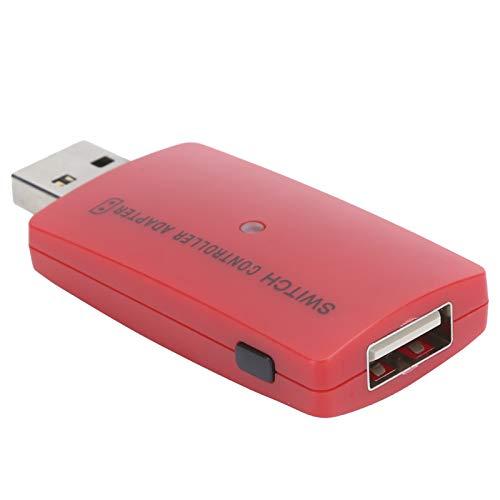 Pwshymi Adaptador USB, portátil, confiable, inalámbrico, Controlador Bluetooth, Adaptador de Alto Rendimiento para Consola de Juegos PS4 Switch(Red)