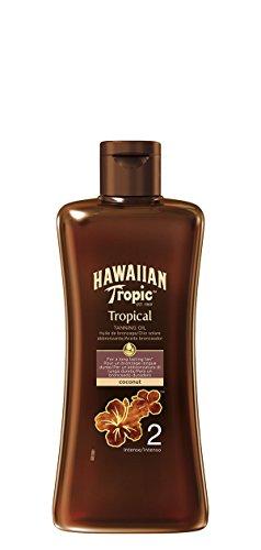 Hawaiian Tropic Solar Oil - Tanning oil with protection SPF 2, Tropical Fragrance