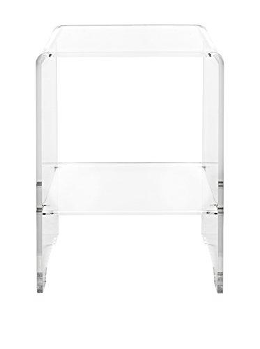 Iplex Design Accanto tafel, multifunctionele kruk, plexiglas/PMMA, transparant