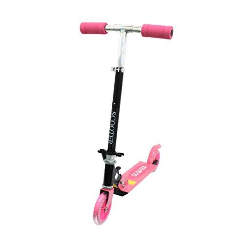 キックボード キックスケーター キッズ 子供 こども ジュニア 大人 用 折りたたみ プロテクター ピンク FJ1565-pink