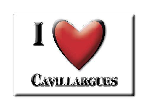 Enjoymagnets CAVILLARGUES (30) Souvenir IMANES DE Nevera Francia Lorraine IMAN Fridge Magnet Corazon I Love