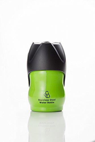 ペット用水筒 ループ ステンレスボトル S グリーン(アウトレット品・新品・印字ミス品・箱無し品・多少のキズあり品)