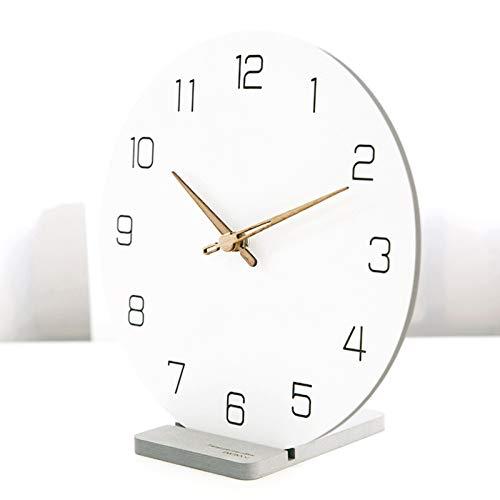 LIHUAN Moderno Reloj De Sobremesa Salón De Reloj De Mesa Decoración Simple Péndulo Reloj Creativo Pequeño Reloj Size : 29cm,C