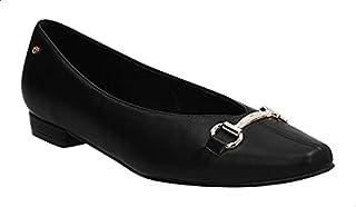 Dejavu Faux-Leather Metal Detail Ballerina Shoes for Women