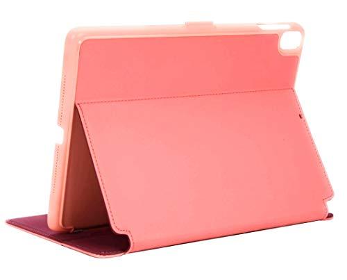 Speck Balance Folio iPad Case and Stand, Compatible with 9.7-inch iPad (2017/2018) iPad Air 2/iPad Air, Parrot Pink/Papaya Pink