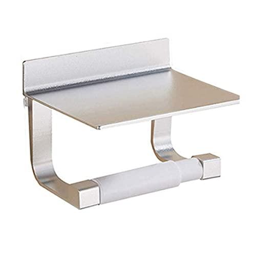 Soporte de rollo de inodoro, soporte de papel higiénico de baño Accesorios de baño de acero inoxidable de acero inoxidable Accesorios de baño, soporte de tejido de baño moderno de montaje en pared