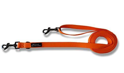 Animal Connection - Correa para perros adiestramiento de nailon, 3 metros, reductible 1,5. 4 colores disponibles.