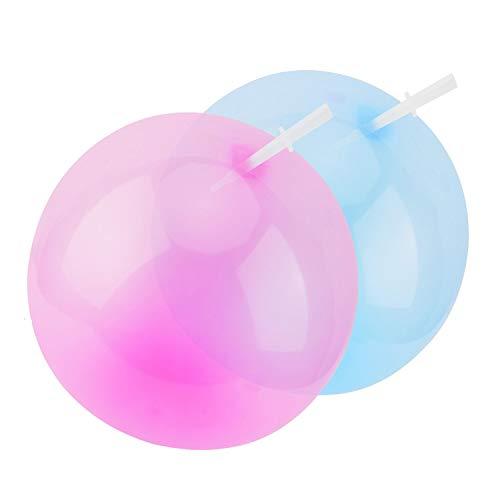FORMIZON Bubble Balloon, Bubble Ball Agua Globo Inflable de Burbujas de Agua para Niños Adultos Verano Playa Jardín Fiesta al Aire Libre (Azul Morado)
