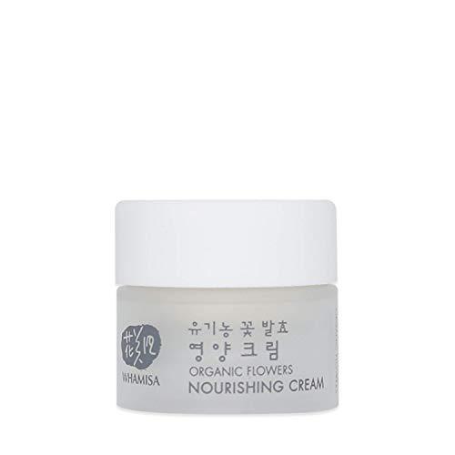 WHAMISA Organic Flowers Nourishing Cream - Reichhaltige Feuchtigkeits-Creme gegen Hautalterung mit K-Beauty - hochwertige Nährstoffe Korean Skin Care - Fermentierte koreanische Naturkosmetik - 5ml