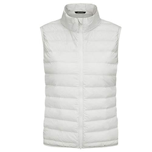emansmoer Femme Lightweight Quilted Insulated Thermal Down Vest Winter Outdoor Gilet Bodywarmer Ladies Sports Waistcoat sans Manche Veste(White, XXL)
