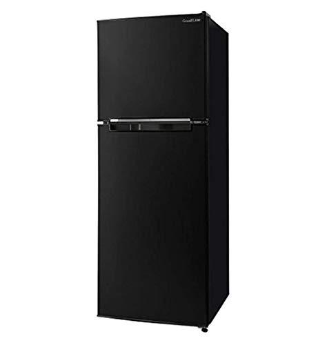 Grand Line 冷蔵庫 138L 2ドア 左右付け替えドア 幅47.4cm 小型 一人暮らし ブラック