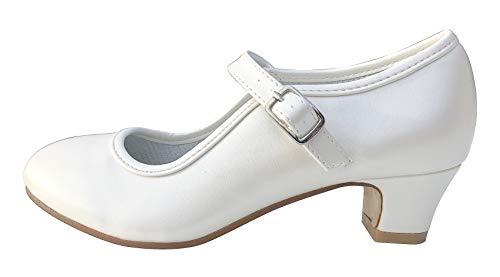 La Senorita Spanische Flamenco Schuhe - Ivory Weiß (36 EU)