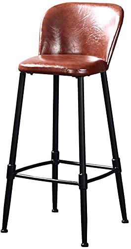 FXBFAG Taburete de Bar Industrial de Cuero de PU, Silla de Comedor de Cocina con Estilo Vintage, sillas con Altura de...