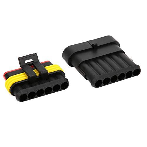 Conector de cable de coche avanzado, 5 juegos de latón estañado para coche (6P)