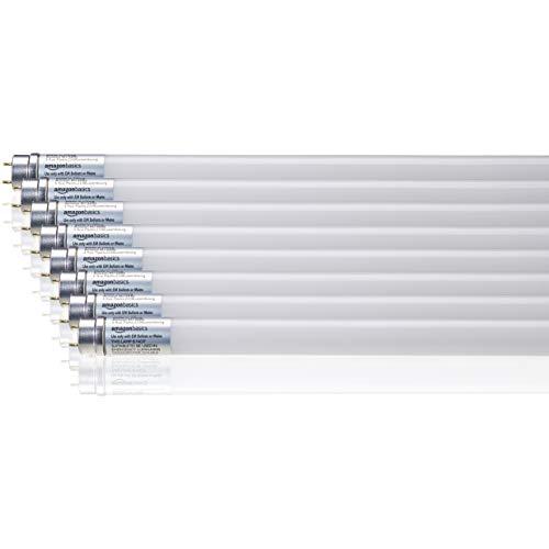 AmazonBasics Professional - LED-Leuchtmittel, T8-Röhre, 1.200 mm, 1.600 lm, 14,5 W (entspricht 36-W-Röhre), Kaltweiß, 6.500 K, G13, 8er-Pack